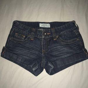 Aeropostale dark denim jean shorts